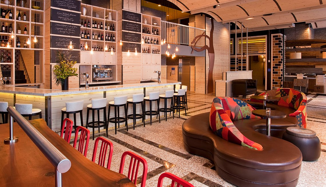 Lobby and Bar of TRYP Hotel, AARP Member Benefits Hotel Spotlight