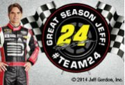 Jeff Gordon and racing flags.  Thanks for a great season!