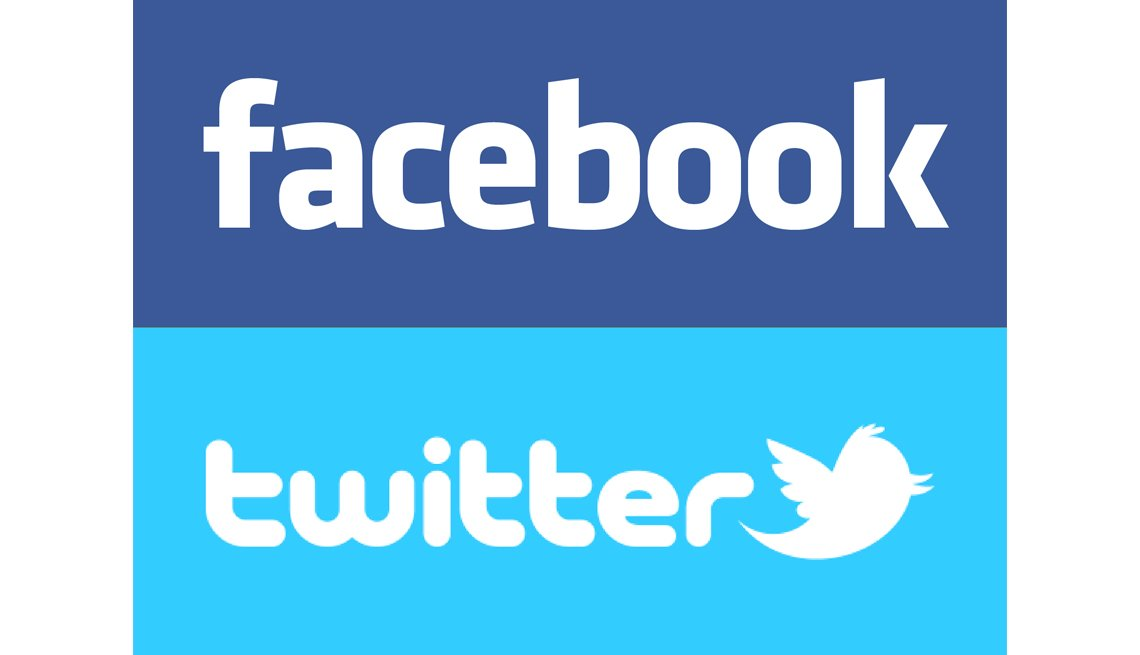 Facebook Logo, Twitter Logo, Connect, Social Media, Experience Corps
