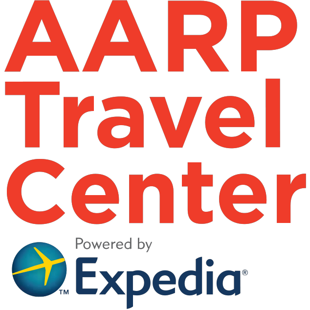 AARP Travel Center Powered by Expedia Logo