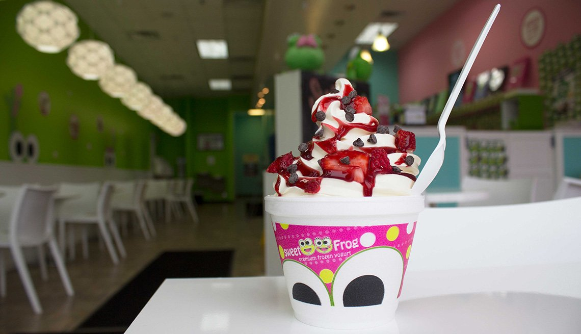 sweetFrog,Yogurt In Front Of Store, Member Benefits