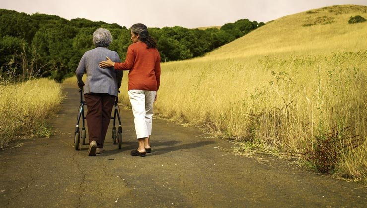 Caregiving walking