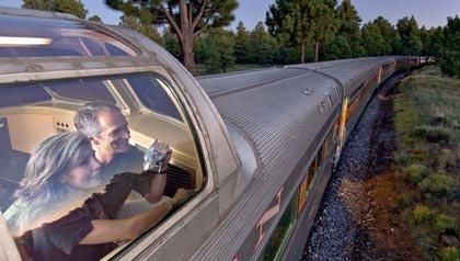 train couple on train, grand canyon railway