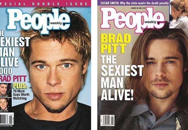Brad Pitt fue para la revista People el hombre vivo más sexy en 1995 y 2000 - Brad Pitt cumple 50 años - Su carrera en imágenes