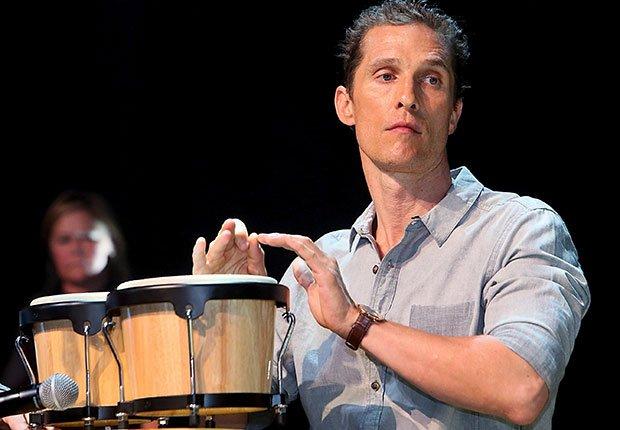 Mathew McConaughey en concierto, Hombres famosos quieren tener bandas de música