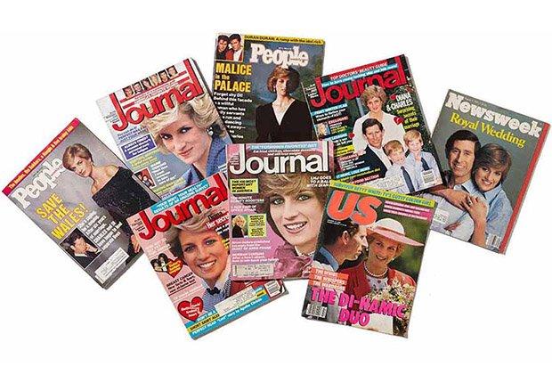 Lady Diana en la portada de varias revistas
