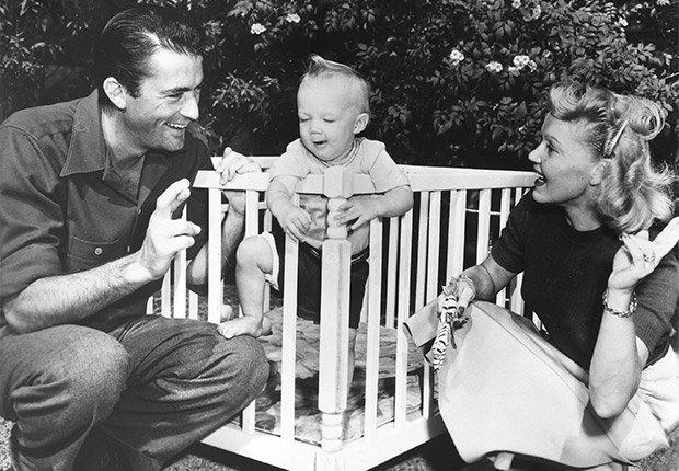 Gregory Peck con su primera esposa Greta Konen - Carrera del actor en Hollywood