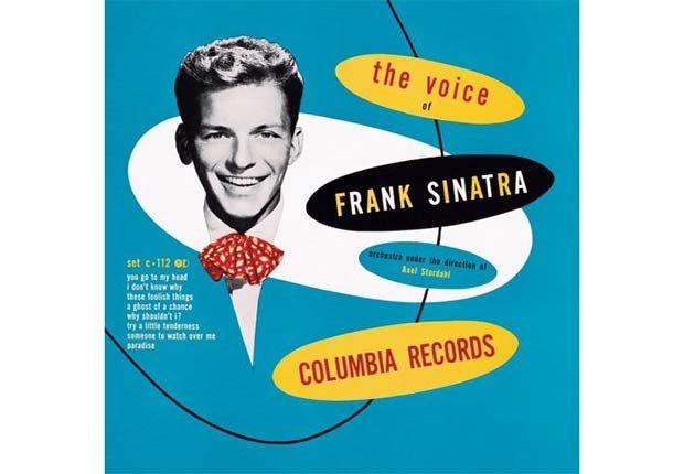 Frank Sinatra portada del disco The Voice -100 años de su natalicio