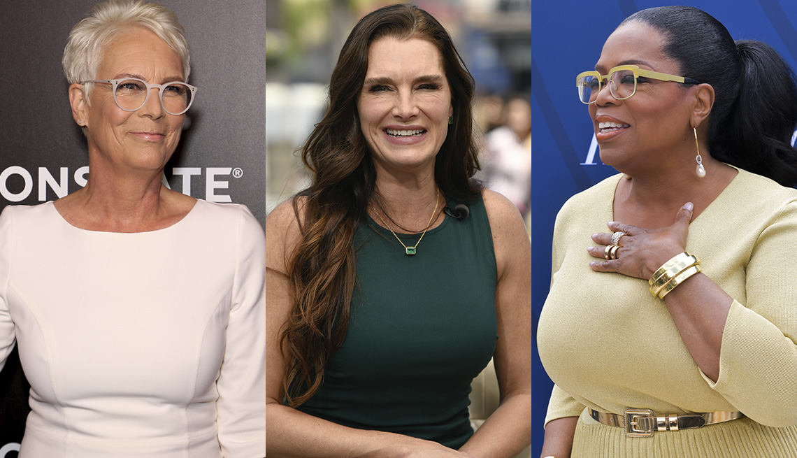item 8, Gallery image. Jamie Lee Curtis, Brooke Shields, Oprah Winfrey