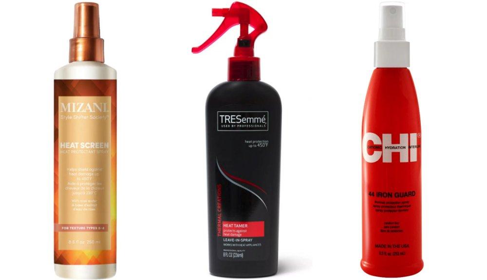 Mizani Heat Screen Hair Protectant Spray; Tresemme Thermal Creations Heat Tamer Spray; CHI 44 Iron Guard Thermal Protection Spray