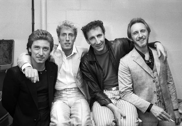 From left to right, Kenney Jones, Roger Daltrey, Pete Townshend and John Entwistle of the Who in New York for a concert in October 1982 - Pete Townshend Retrospective