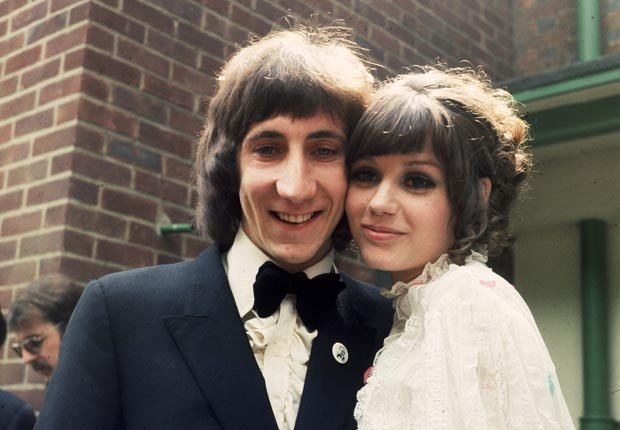 Pete Townshend on his wedding day with his wife Karen Astley in 1968 - Pete Townshend Retrospective