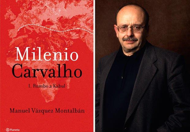 Portada de Milenio Carvalho. Foto de Manuel Vázquez Montalbán. Novelas de crimen y detectives para todos los gustos.