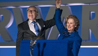 Meryl Streep interpreta a Margaret Thatcher en la película: The Iron Lady