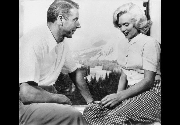 Marilyn Monroe con el pelotero Joe di Maggio.