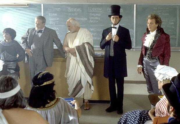 Robert V. Barron in Bill & Ted's Excellent Adventure, 1989, actors playing Lincoln