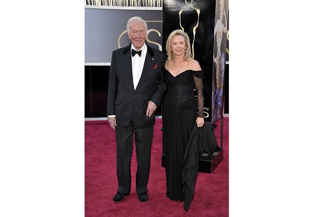 Actor Christopher Plummer and wife Elaine Taylor arrive at the 85th Academy Awards