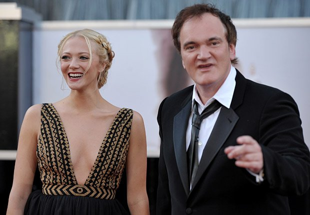 Filmmaker Quentin Tarantino, right, and actress Lianne Spiderbaby arrive at the Oscars