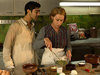 Manish Dayal and Helen Mirren star in A Hundred Foot Journey.