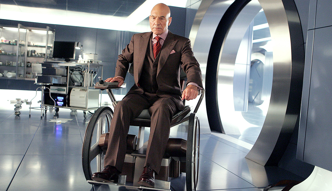 Sir Patrick Stewart en la película X-Men: The Last Stand.