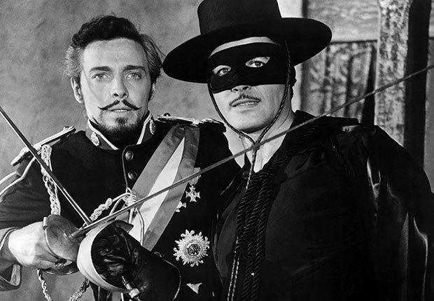 Escena de la película El Zorro - La carrera de Walt Disney