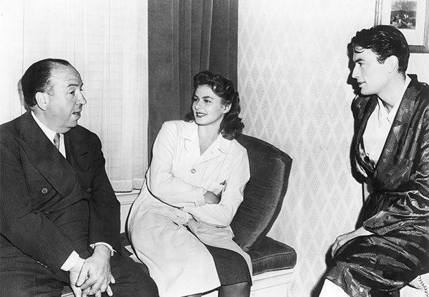Alfred Hitchcock e Ingrid Bergman, una actriz de la era dorada de Hollywood a 100 años de su natalicio.