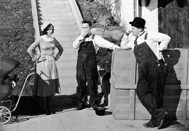 El Gordo y el Flaco, Laurel y Hardy en una escena de la película Music Box