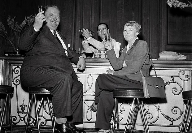 El Gordo y el Flaco, Laurel y Hardy. Oliver Hardy y su esposa en Paris