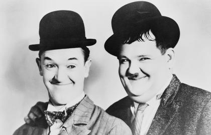 Laurel y Hardy, el Gordo y el Flaco.