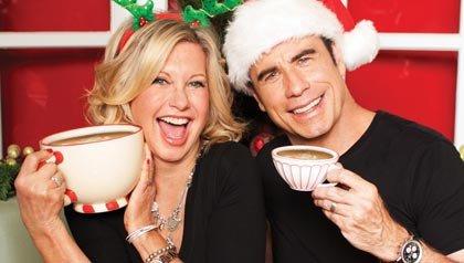 John Travolta and Olivia Newton-John, release of Christmas music album