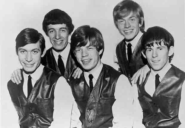 Banda Rolling Stones - Mick Jagger, Jones, Brian Jones, Keith Richards, Charlie Watts y Bill Wyman en 1962