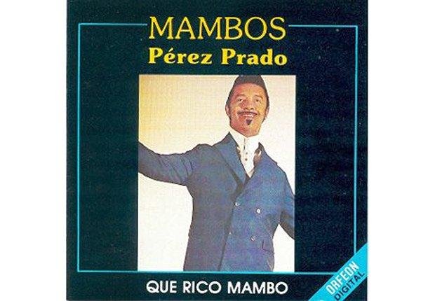 Dámaso Pérez Prado, portada de su disco Mambos, Pérez Prado.