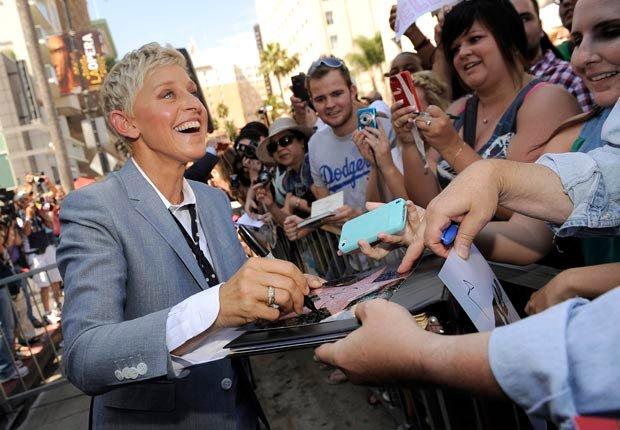 Comediante Ellen DeGeneres - Artistas con 50 años o más