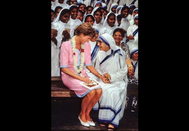 Princesa Diana en la India