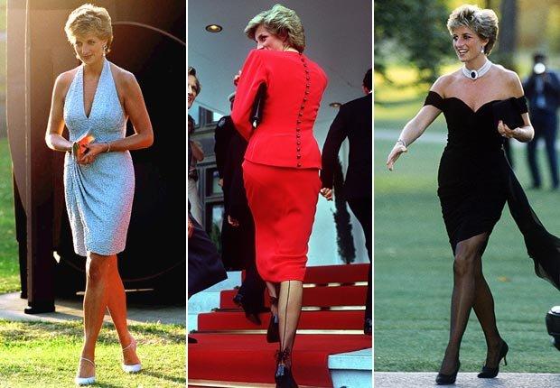 Princesa Diana con una moda sexy