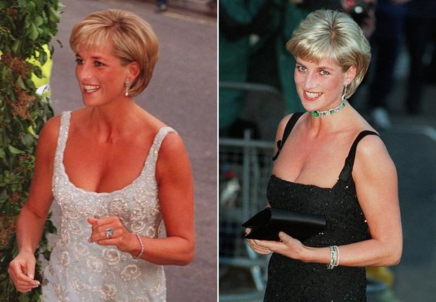 Princesa Diana con una moda atrevida