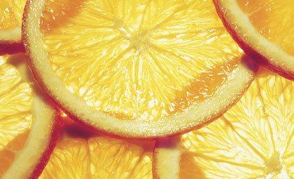 Naranjas cortadas