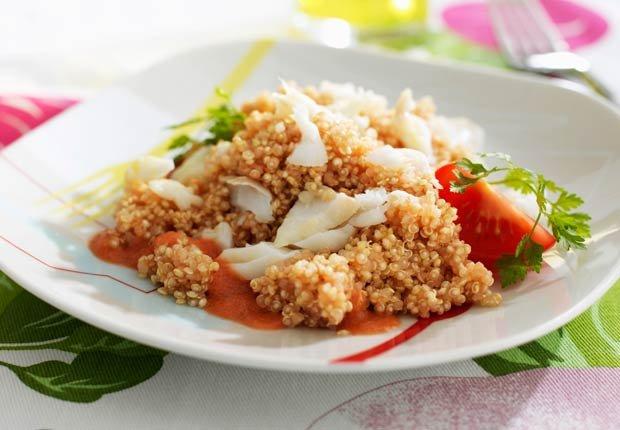 Bacalao con quinoa - 10 beneficios de salud de la quinoa
