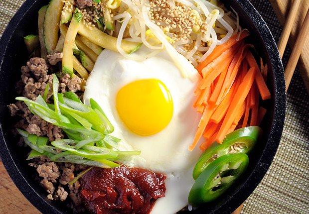 Bibimbap de Corea - Platos típicos de Asia