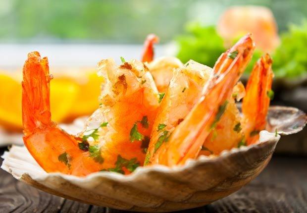 Recetas de camarones con sabor latino - Camarones con naranja y guayaba