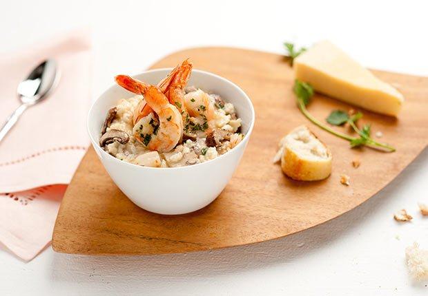 Recetas de camarones con sabor latino - Risotto amoroso con camarones