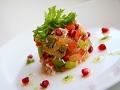 Ensalada de cangrejo con aguacate y cítricos