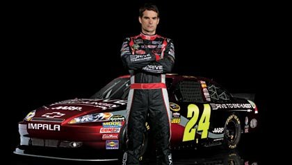 Jeff Gordon: piloto de la NASCAR y su carro