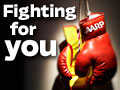 AARP Fighting for you-Photo of boxing gloves