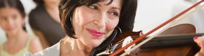 Woman playing violin, Work Your Mind