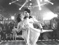 """John Travolta dances in """"Saturday Night Fever"""""""