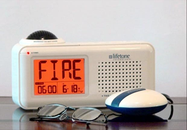 Cool Household Hearing Devices Impaired Lifetone Fire Smoke Alarm ESP Clock Bed Shaker