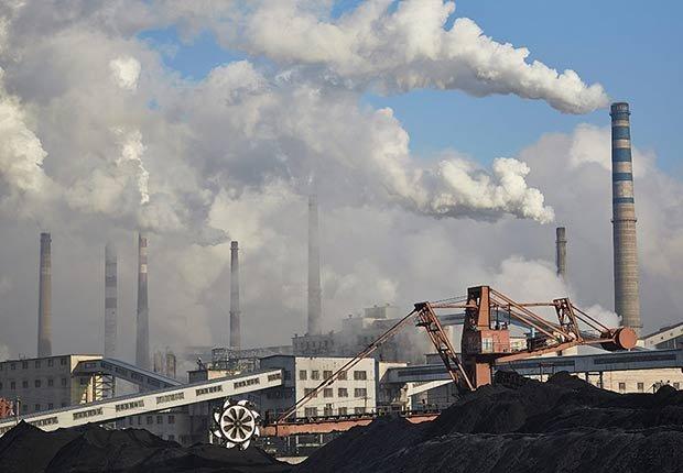 Chimeneas industriales - Contaminación ambiental