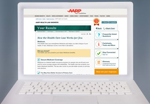 AARP health law answers tool