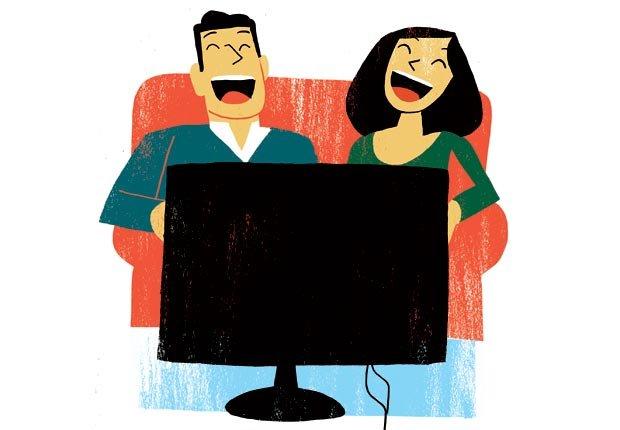 Grafico de una pareja viendo television - Cambios para mejorar la salud